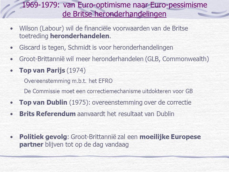 1969-1979: van Euro-optimisme naar Euro-pessimisme de Britse heronderhandelingen