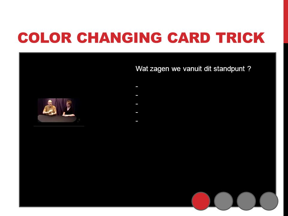 Color changing card trick