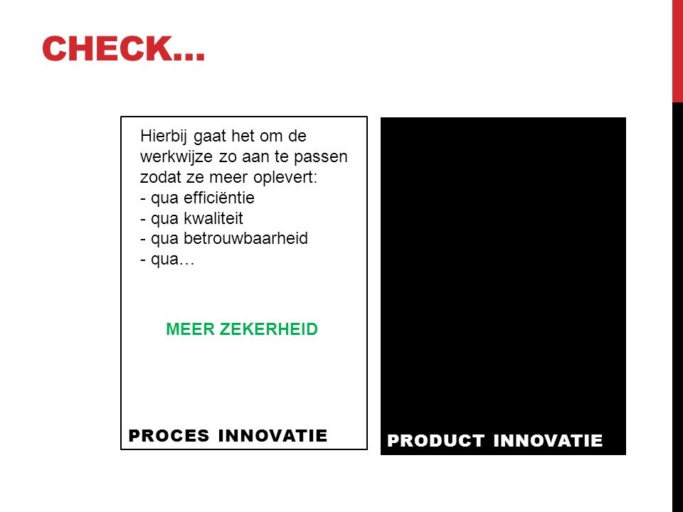 Check… PROCES INNOVATIE.