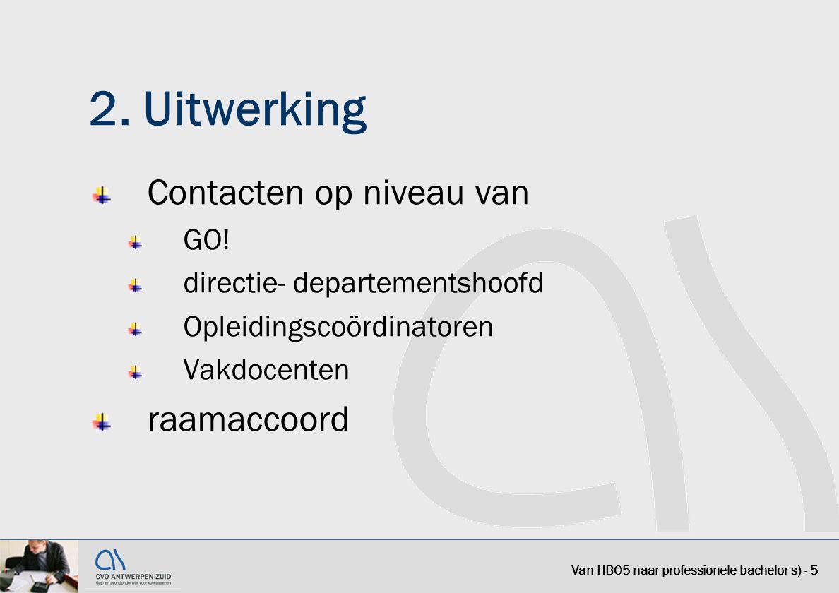 2. Uitwerking Contacten op niveau van raamaccoord GO!