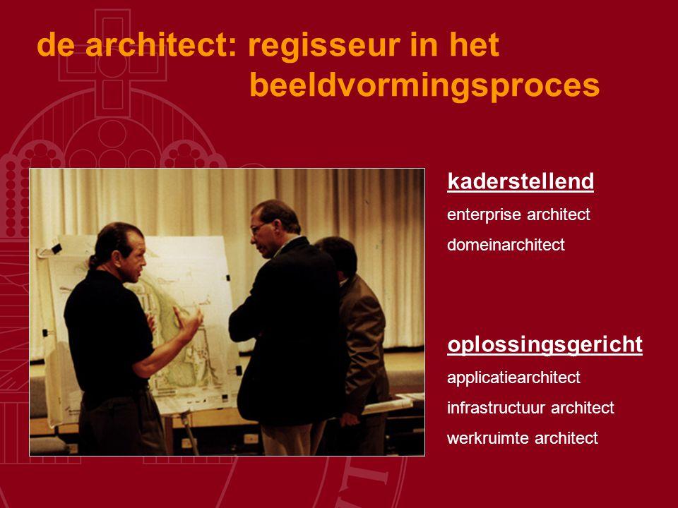de architect: regisseur in het beeldvormingsproces