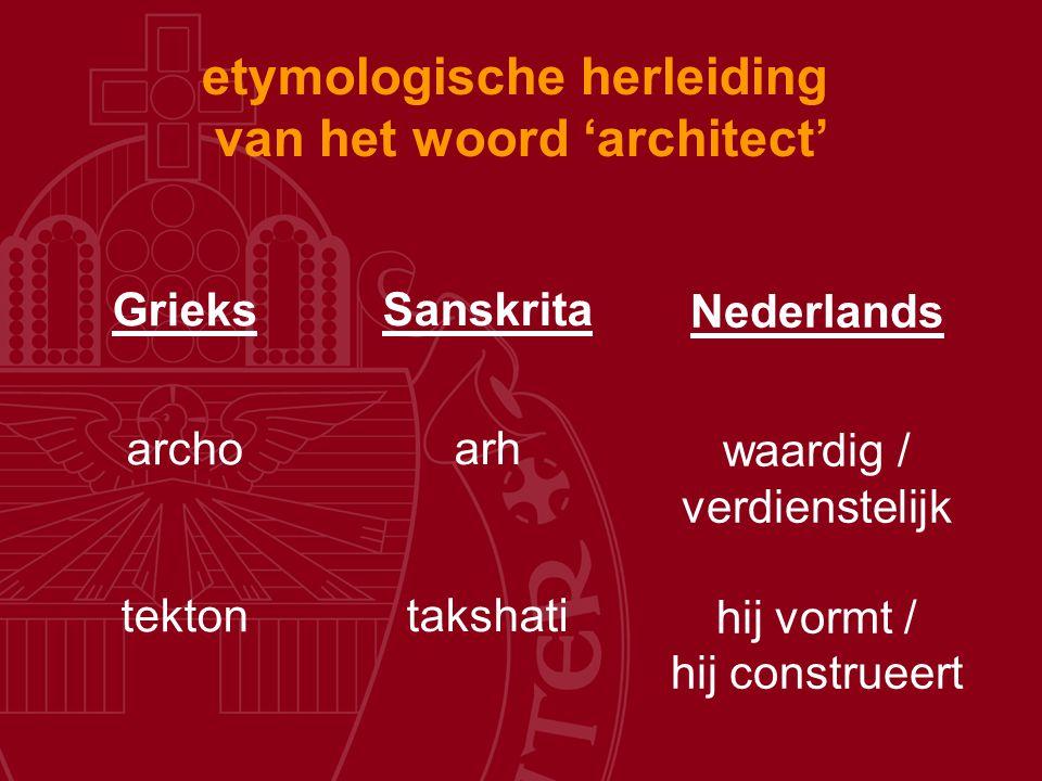 etymologische herleiding van het woord 'architect'