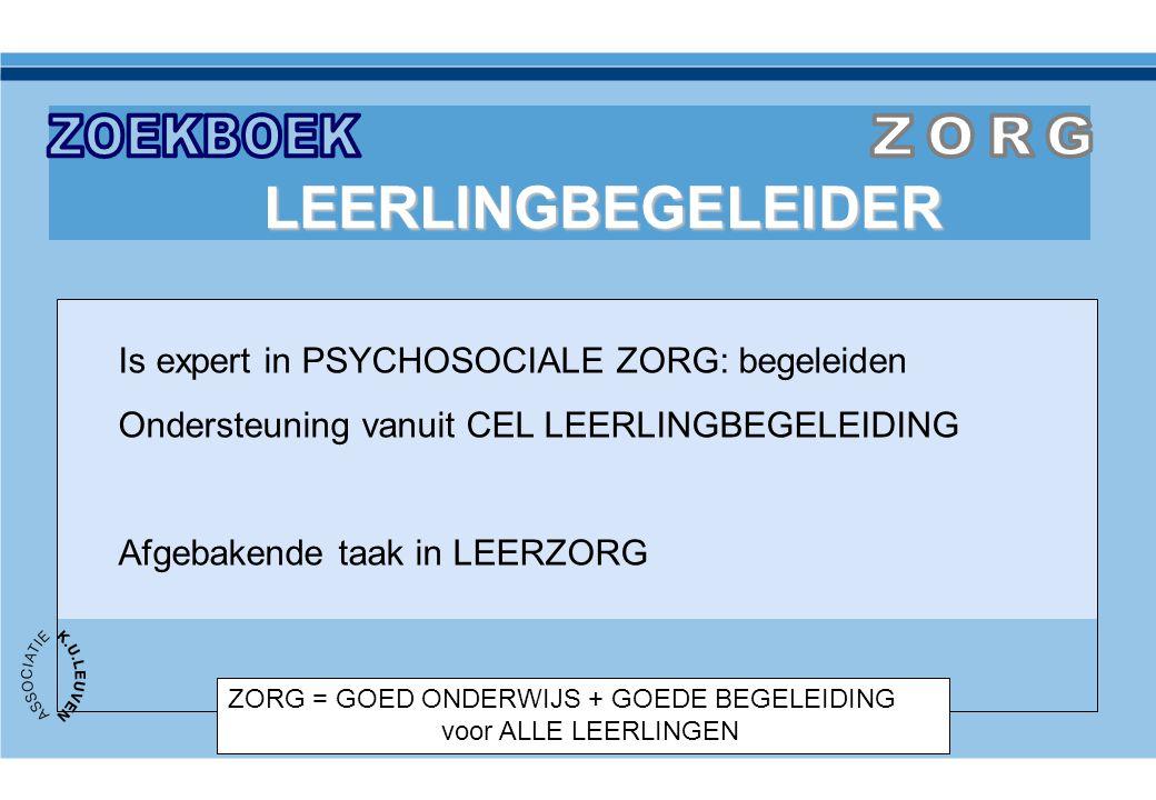 ZOEKBOEK ZORG LEERLINGBEGELEIDER