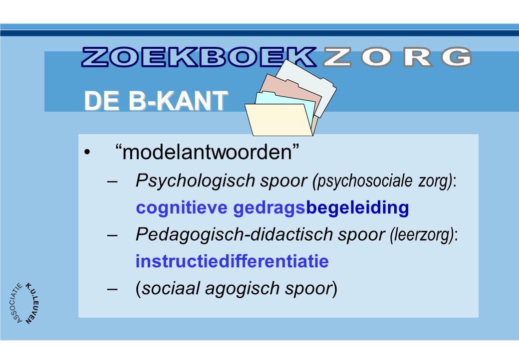 ZOEKBOEK ZORG DE B-KANT modelantwoorden