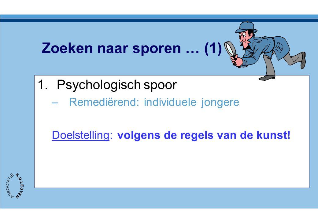 Zoeken naar sporen … (1) Psychologisch spoor