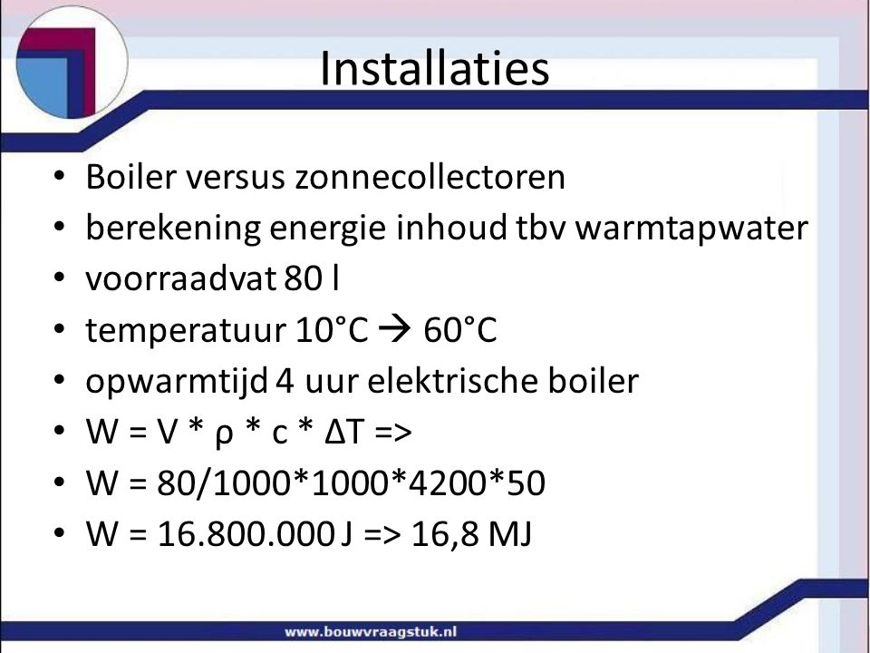 Installaties Boiler versus zonnecollectoren