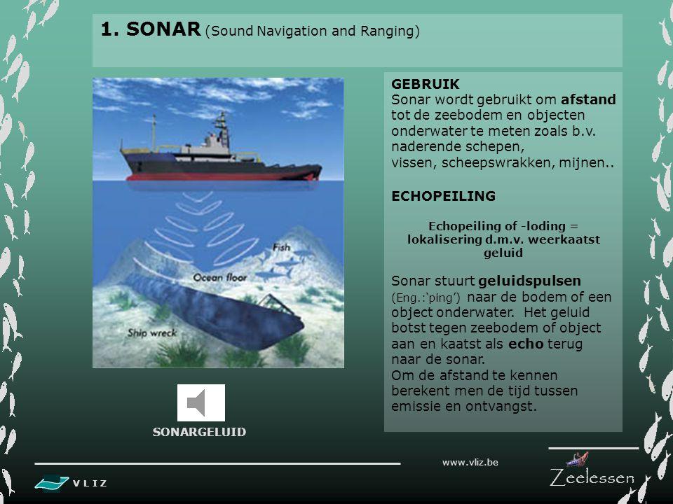 Echopeiling of -loding = lokalisering d.m.v. weerkaatst geluid