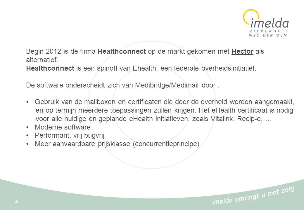 Begin 2012 is de firma Healthconnect op de markt gekomen met Hector als alternatief.