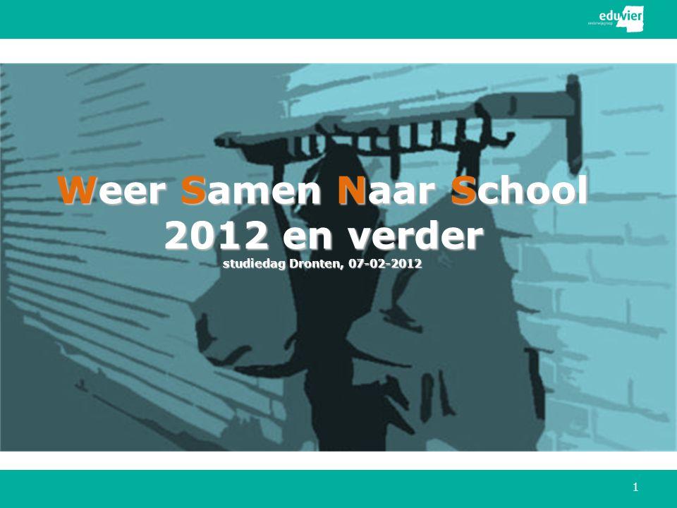 Weer Samen Naar School 2012 en verder studiedag Dronten, 07-02-2012