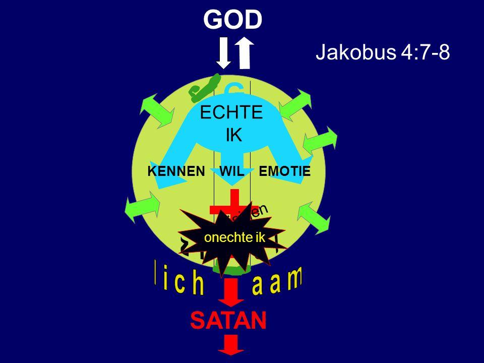 G GOD SATAN Jakobus 4:7-8 z i e l l i c h a a m ECHTE IK kruisigen