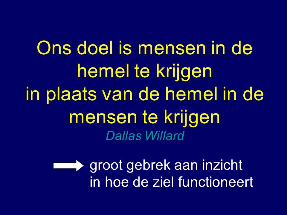 Ons doel is mensen in de hemel te krijgen in plaats van de hemel in de mensen te krijgen Dallas Willard