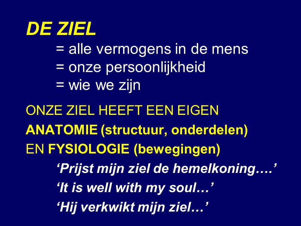 DE ZIEL. = alle vermogens in de mens. = onze persoonlijkheid