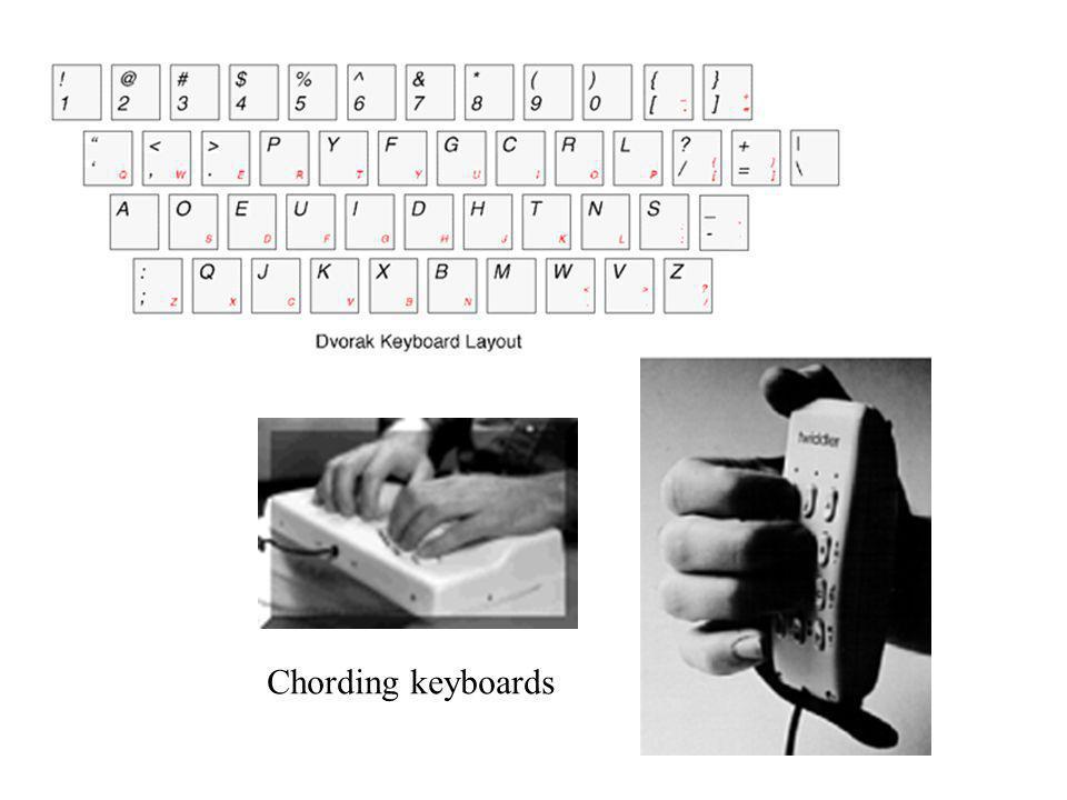 Chording keyboards