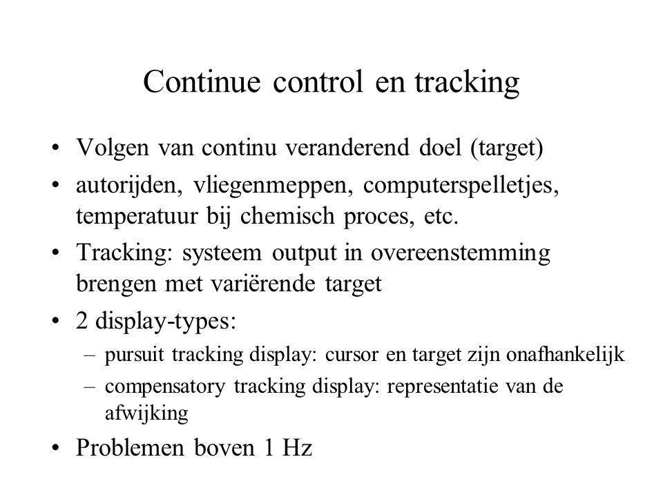 Continue control en tracking