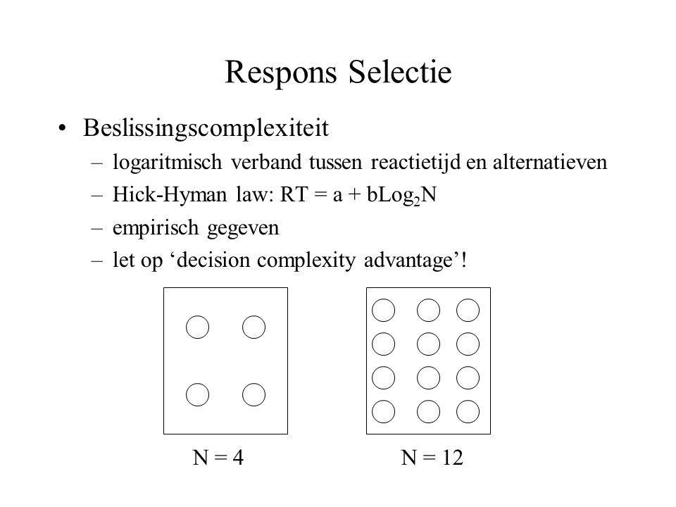 Respons Selectie Beslissingscomplexiteit