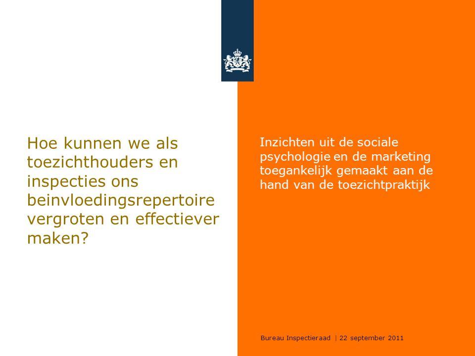 Hoe kunnen we als toezichthouders en inspecties ons beinvloedingsrepertoire vergroten en effectiever maken