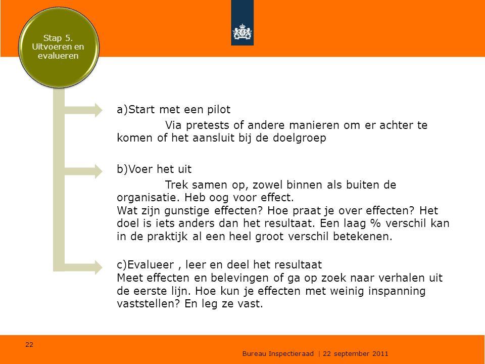 Stap 5. Uitvoeren en evalueren