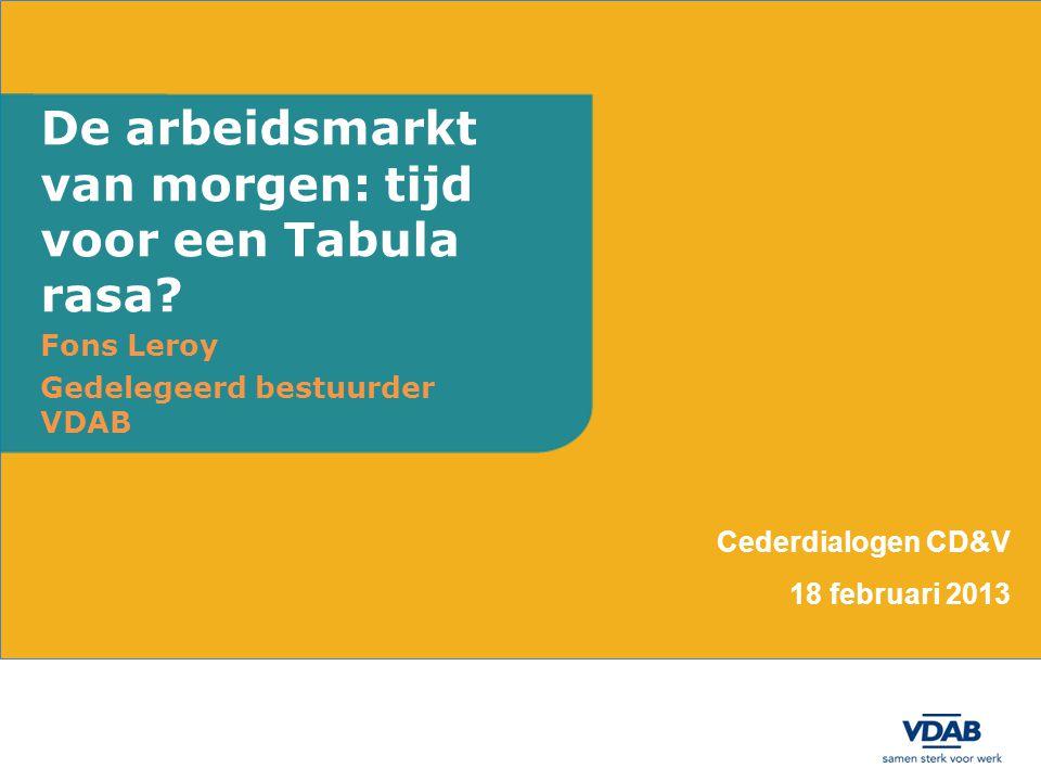 De arbeidsmarkt van morgen: tijd voor een Tabula rasa