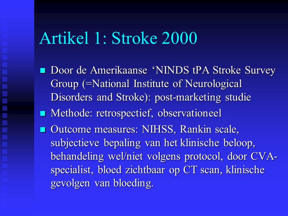 Artikel 1: Stroke 2000