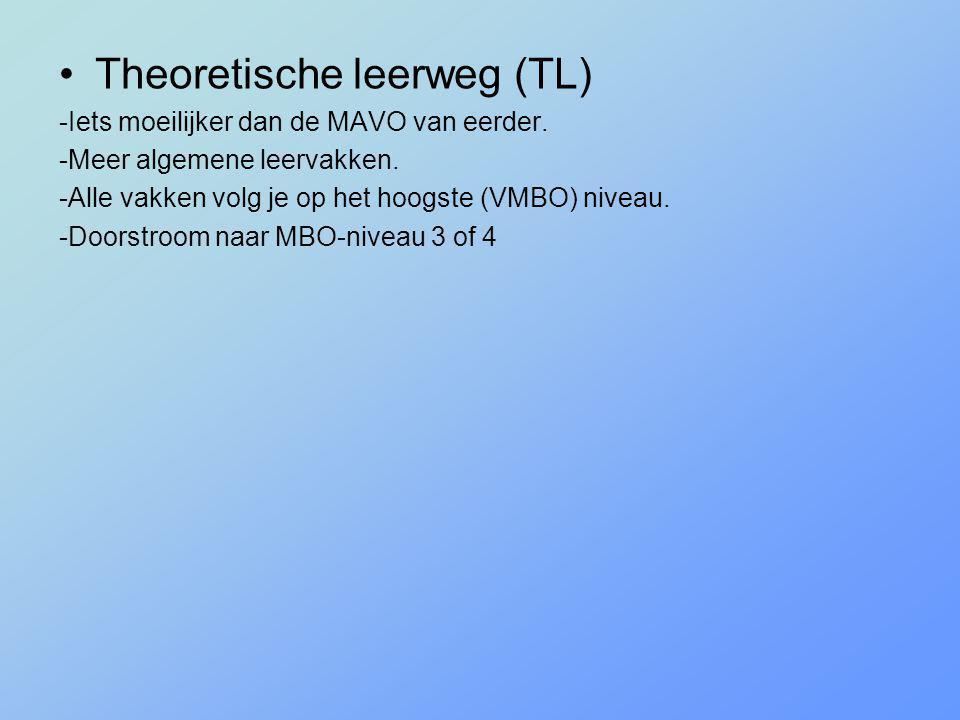 Theoretische leerweg (TL)