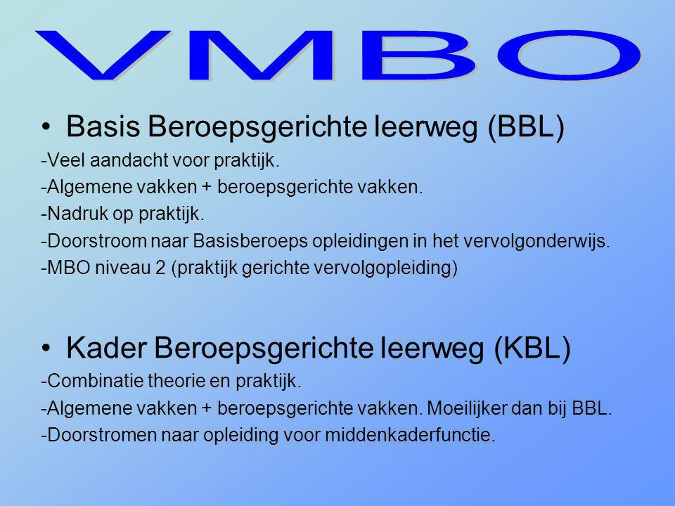 VMBO Basis Beroepsgerichte leerweg (BBL)