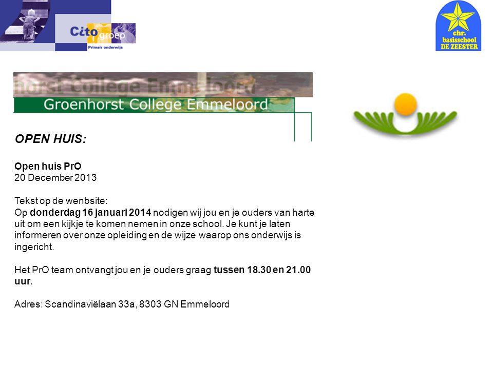 Informatie avond – CITO 18-01-06