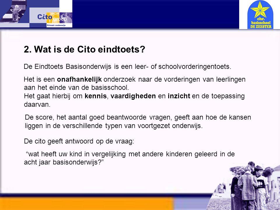 2. Wat is de Cito eindtoets
