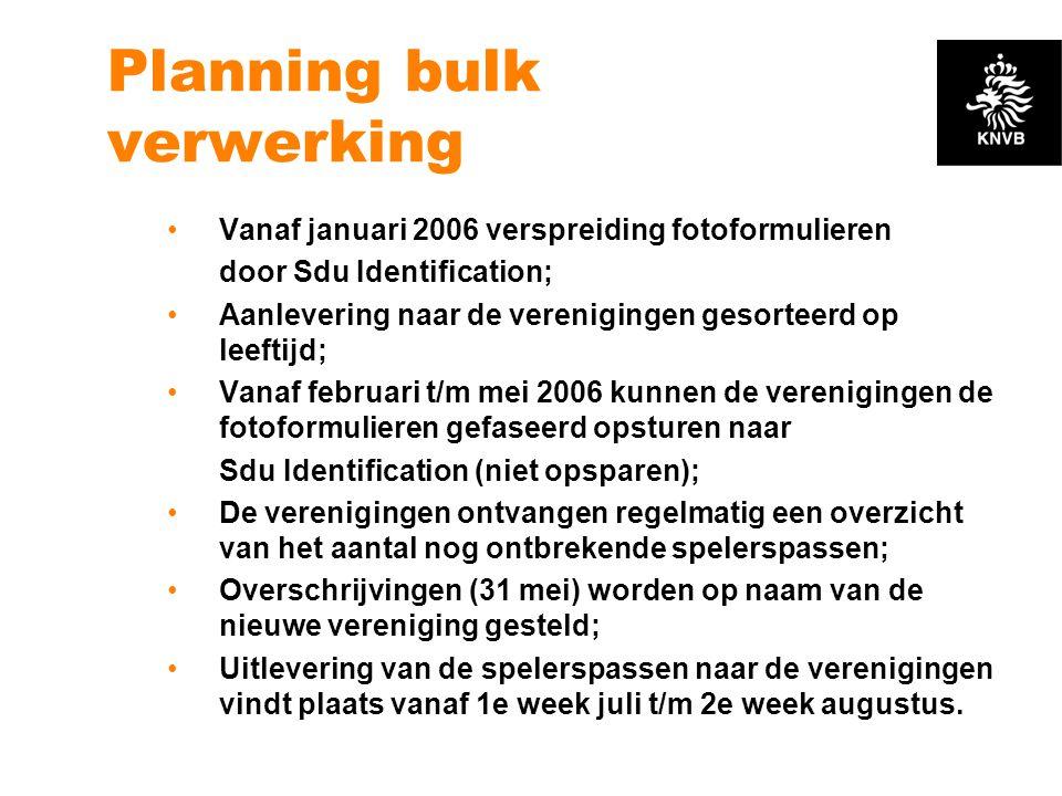 Planning bulk verwerking
