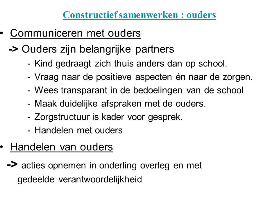 Constructief samenwerken : ouders