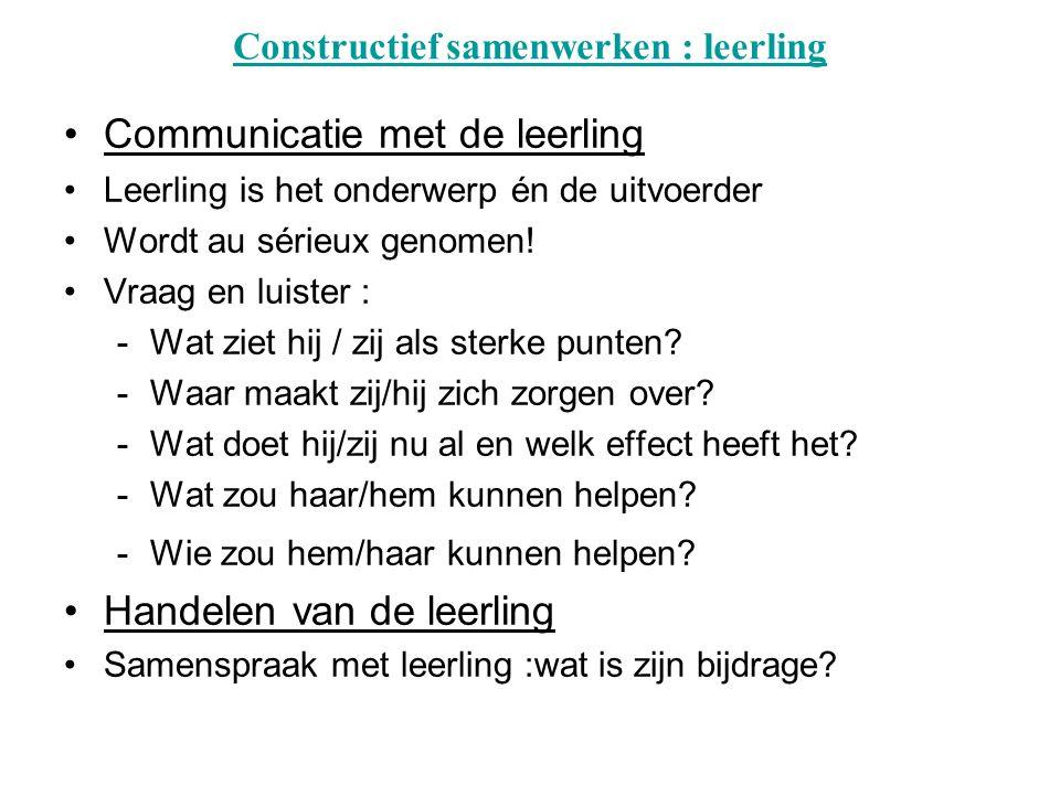Constructief samenwerken : leerling