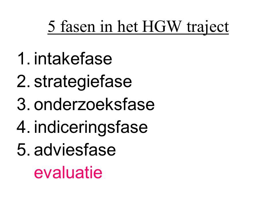 5 fasen in het HGW traject