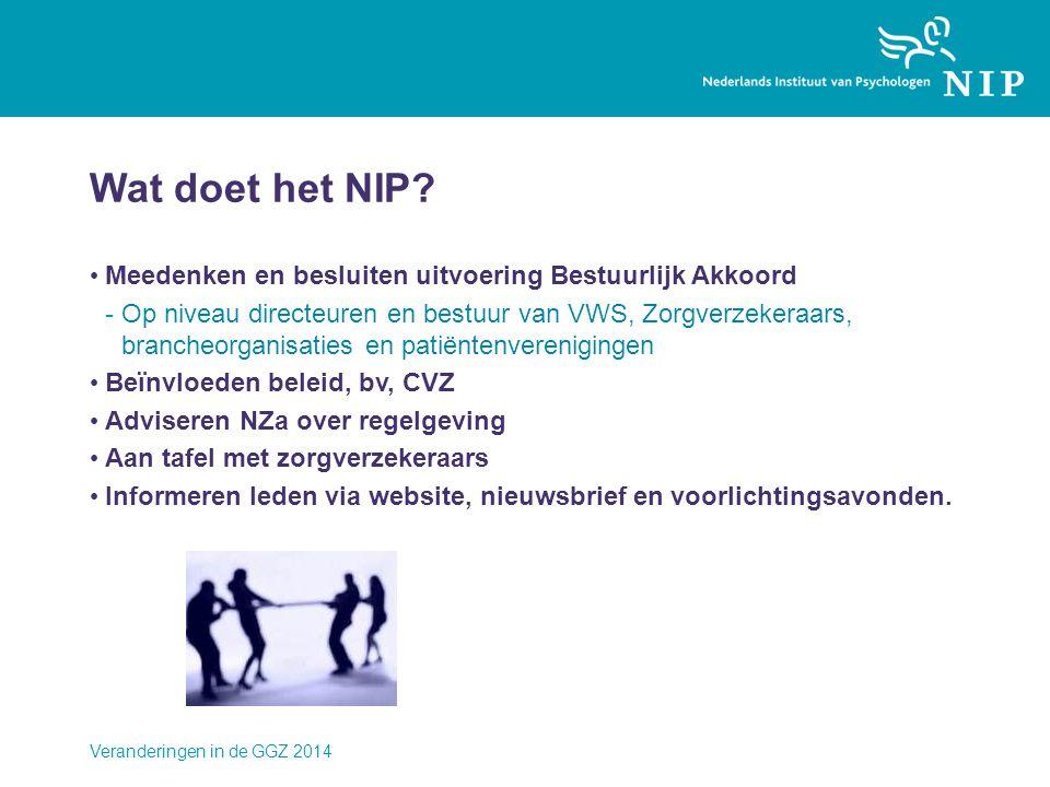Wat doet het NIP Meedenken en besluiten uitvoering Bestuurlijk Akkoord.