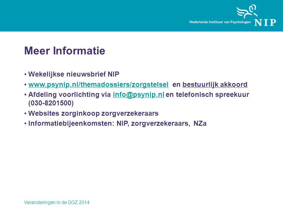Meer Informatie Wekelijkse nieuwsbrief NIP