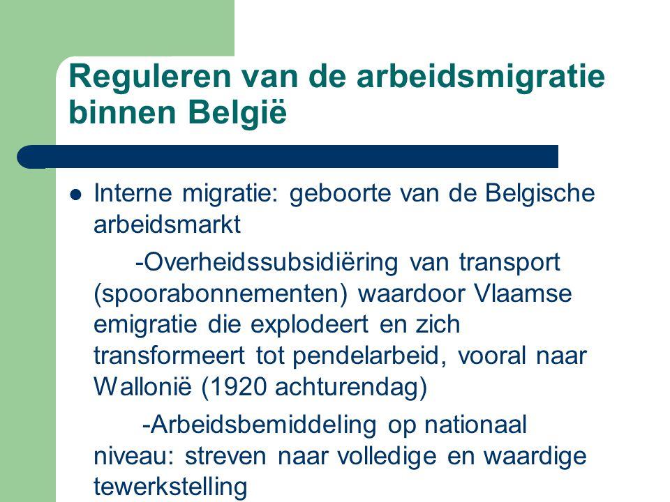 Reguleren van de arbeidsmigratie binnen België