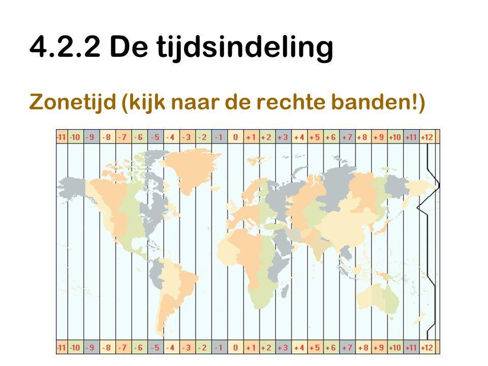 4.2.2 De tijdsindeling Zonetijd (kijk naar de rechte banden!)