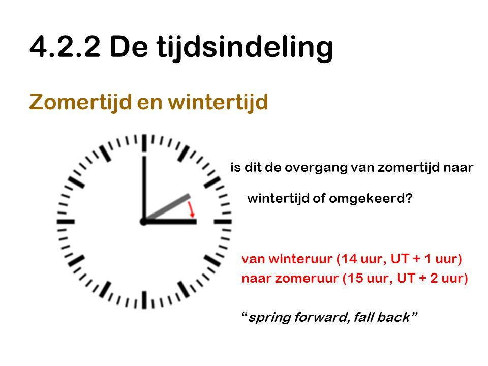 4.2.2 De tijdsindeling Zomertijd en wintertijd