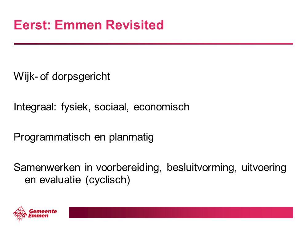 Eerst: Emmen Revisited