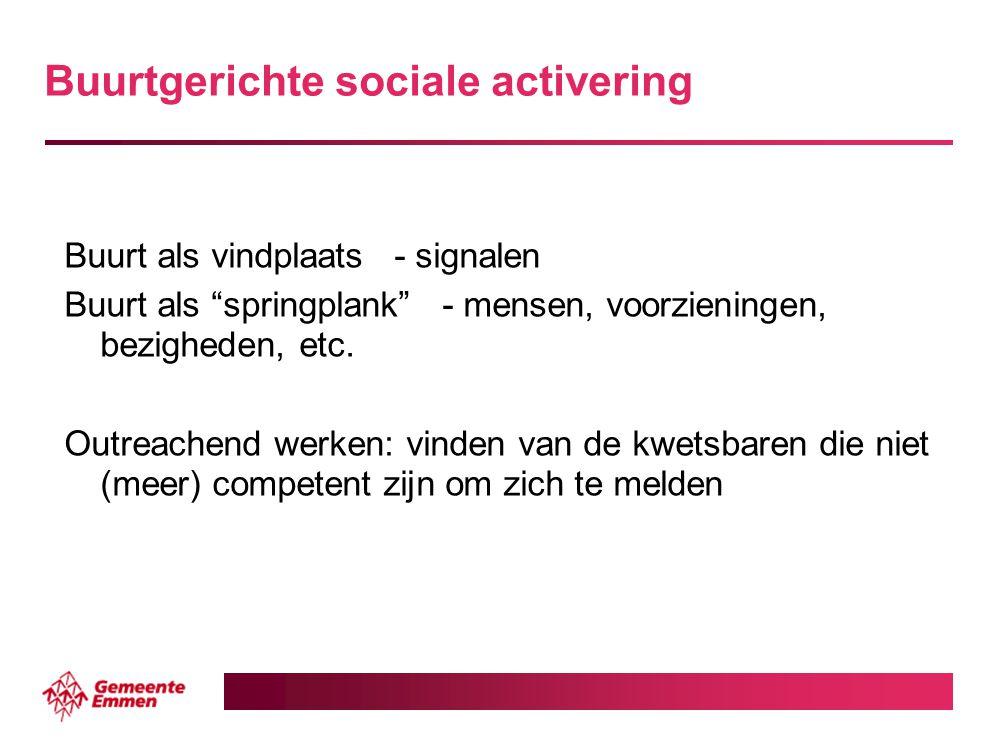 Buurtgerichte sociale activering