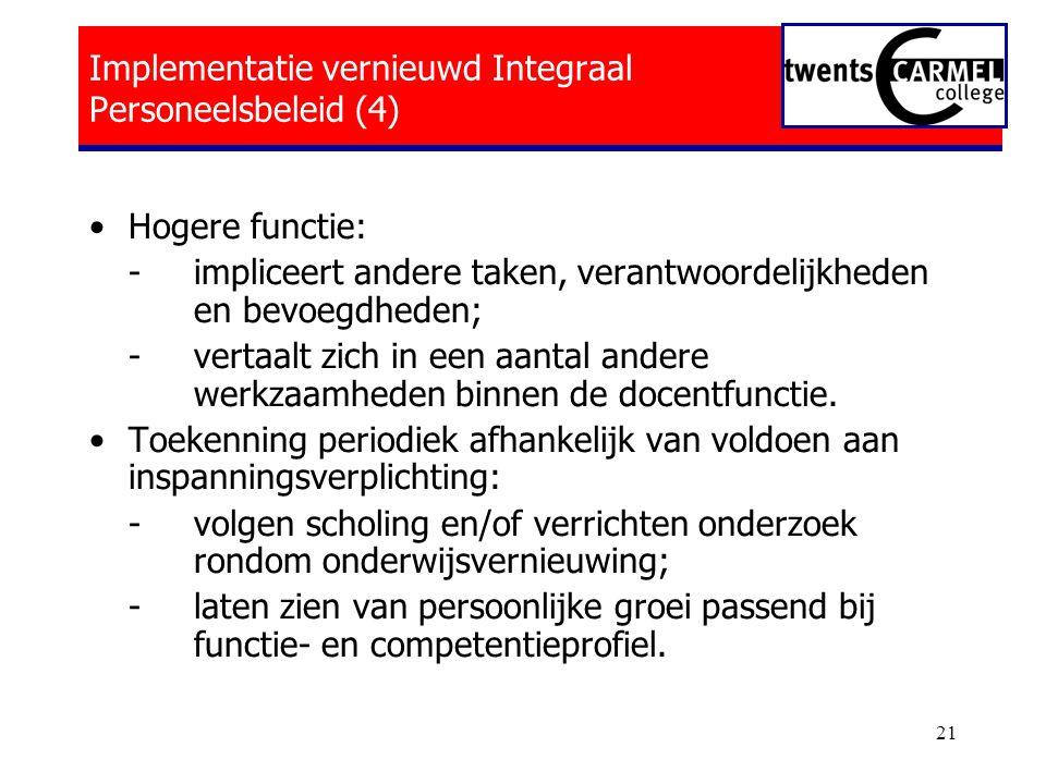 Implementatie vernieuwd Integraal Personeelsbeleid (4)