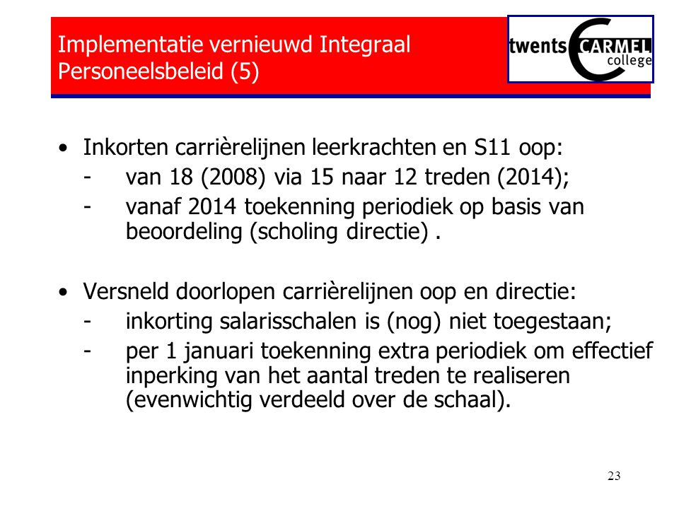 Implementatie vernieuwd Integraal Personeelsbeleid (5)
