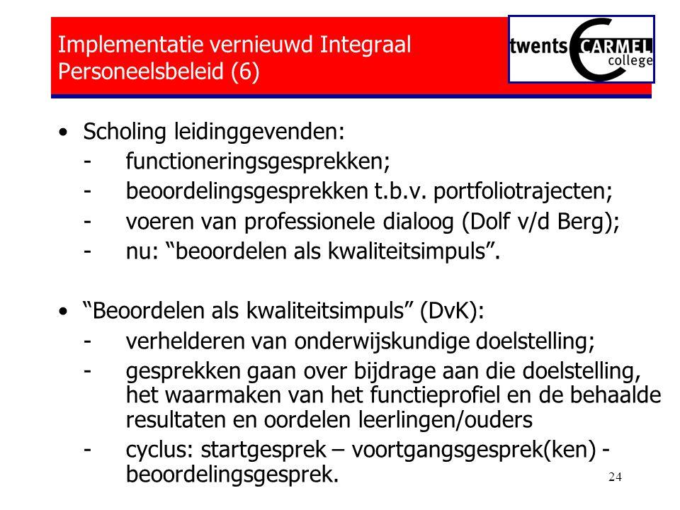 Implementatie vernieuwd Integraal Personeelsbeleid (6)