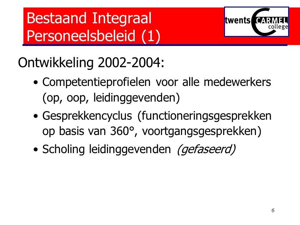 Bestaand Integraal Personeelsbeleid (1)