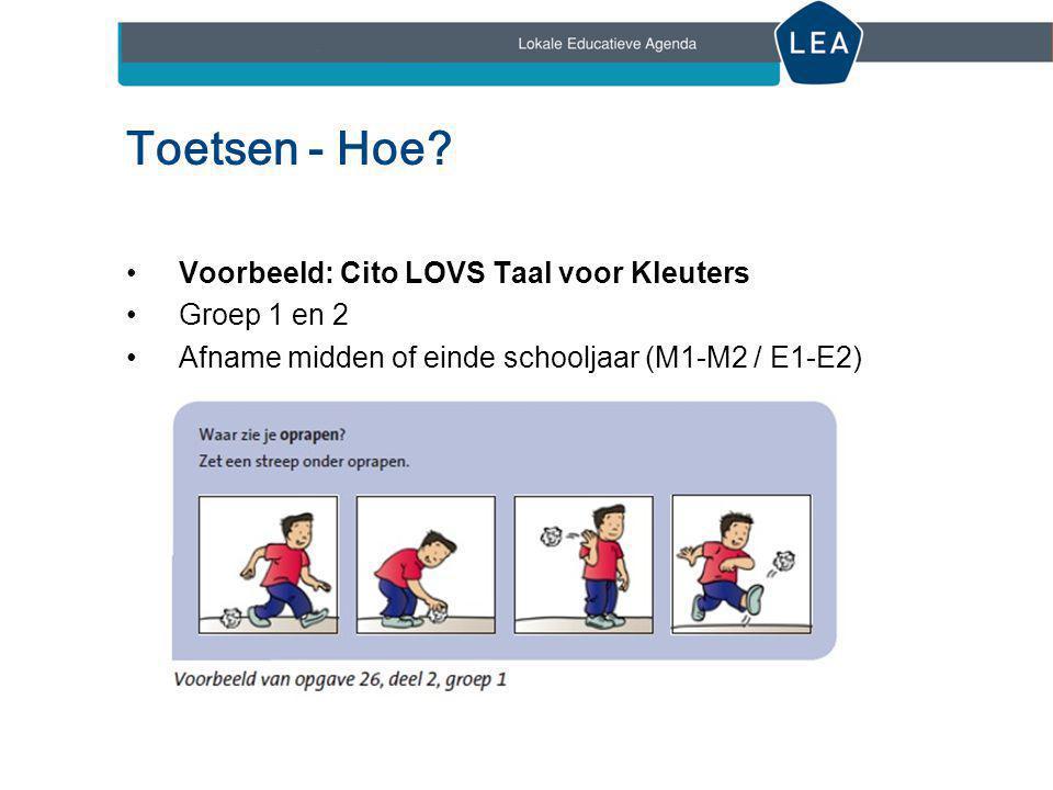 Toetsen - Hoe Voorbeeld: Cito LOVS Taal voor Kleuters Groep 1 en 2