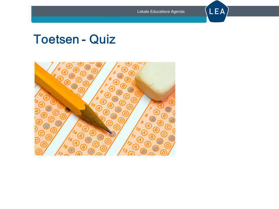 Toetsen - Quiz Korte quiz over valkuilen, haken en ogen en andere aandachtspunten bij toetsen. 9