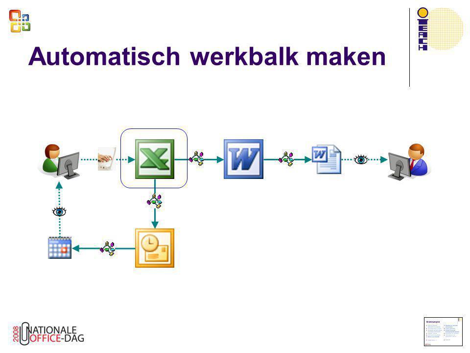 Automatisch werkbalk maken
