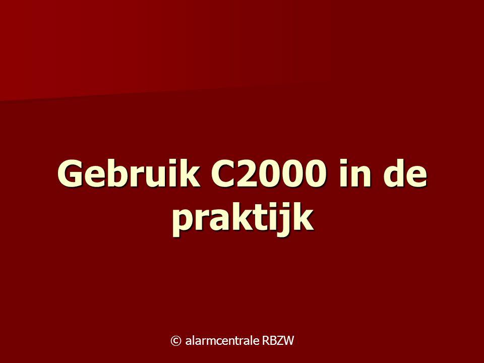 Gebruik C2000 in de praktijk