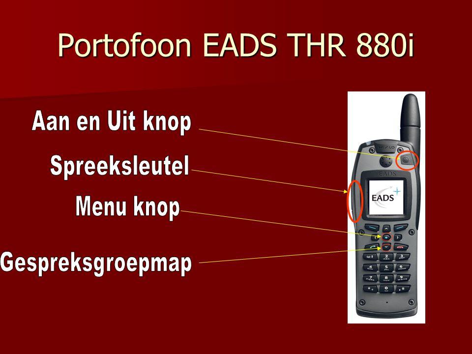 Portofoon EADS THR 880i Aan en Uit knop Spreeksleutel Menu knop