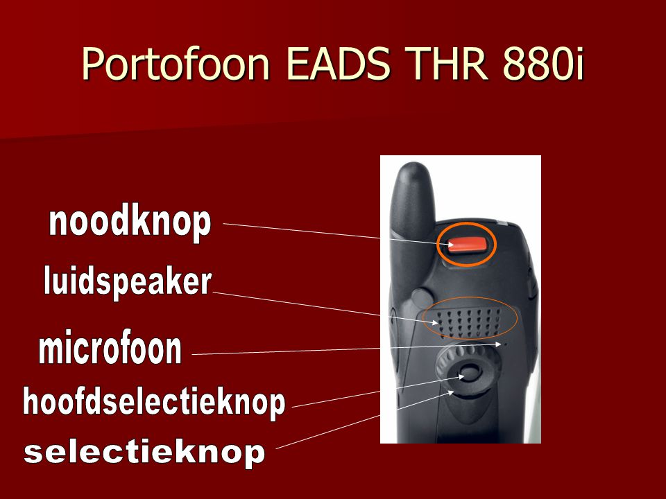 Portofoon EADS THR 880i noodknop luidspeaker microfoon