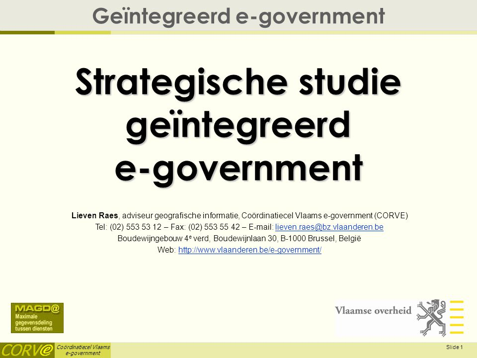 Strategische studie geïntegreerd e-government