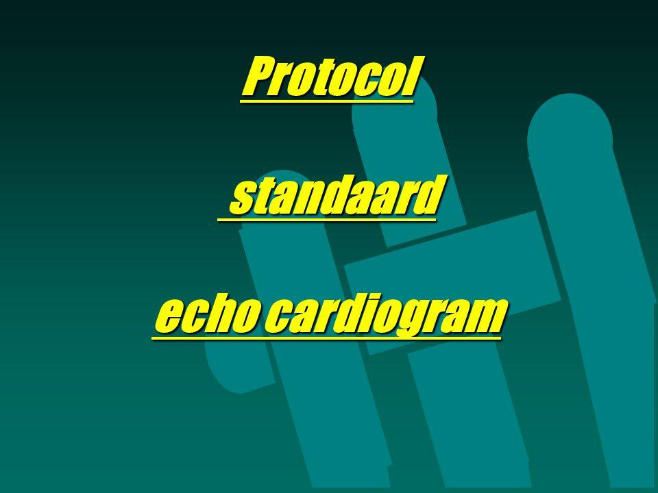 Protocol standaard echo cardiogram